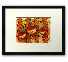 peace * love * hope for Drawing Day 2011 Framed Print