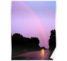 Spring Evening Rainbow Poster