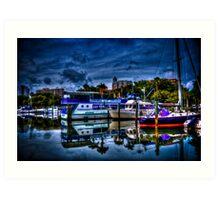 Sailing boats at Sarasota, FL Art Print