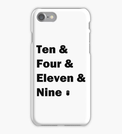 Ten and .... iPhone Case/Skin