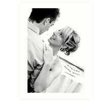 Heres to the Bride and Groom #2 Art Print