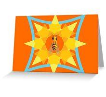 Bee, sun & flower Greeting Card