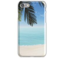 palm on the beach iPhone Case/Skin