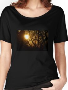 Golden Sunset in the Trees Women's Relaxed Fit T-Shirt