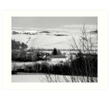 Scottish Winter Scene... Art Print