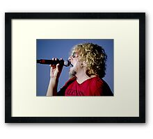 Belting Out a Love Song Framed Print