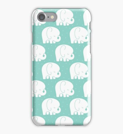 mod baby elephants mint iPhone Case/Skin