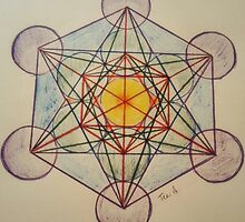 Metatron's Cube - Colored by AppletonDesigns