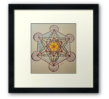 Metatron's Cube - Colored Framed Print