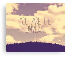 You Are The Universe Canvas Print