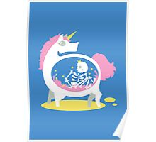 The Truth About Unicorns [Blue] Poster