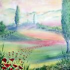 A Walk Through The Poppy Fields by Maria Louise Moore