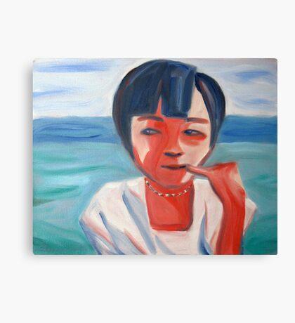 Portrait of a Vietnamese girl Canvas Print