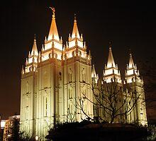 Salt Lake Temple - Winter Night by Ryan Houston