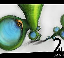 January 22nd - Pools of the Vine by 365 Notepads -  School of Faces