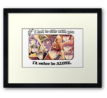 """Choose Your Side!"" lol nope Framed Print"