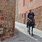 Man and Mule, Albarracin, Aragon, Spain by Andrew Jones
