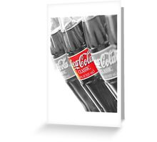 Coca-Cola Bottles Greeting Card