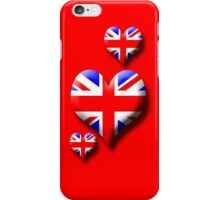 Union Jack - Triple Heart iPhone Case/Skin
