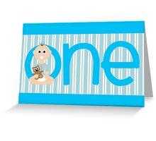 Happy Birthday - 1st Birthday, Male Greeting Card