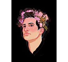Brendon Flower Crown Photographic Print
