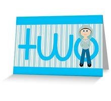 Happy Birthday - 2nd Birthday, Male Greeting Card