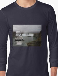Dave Stormtrooper  Iceland Waterfall Long Sleeve T-Shirt