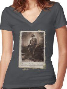 Thomas 'The Baron' Cochrane Women's Fitted V-Neck T-Shirt