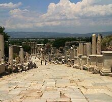 Roman Street in Ephesus by Jens Helmstedt