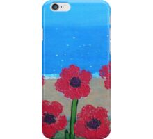 Poppies by the Sea iPhone Case/Skin