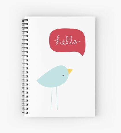 Hello Birdie Spiral Notebook