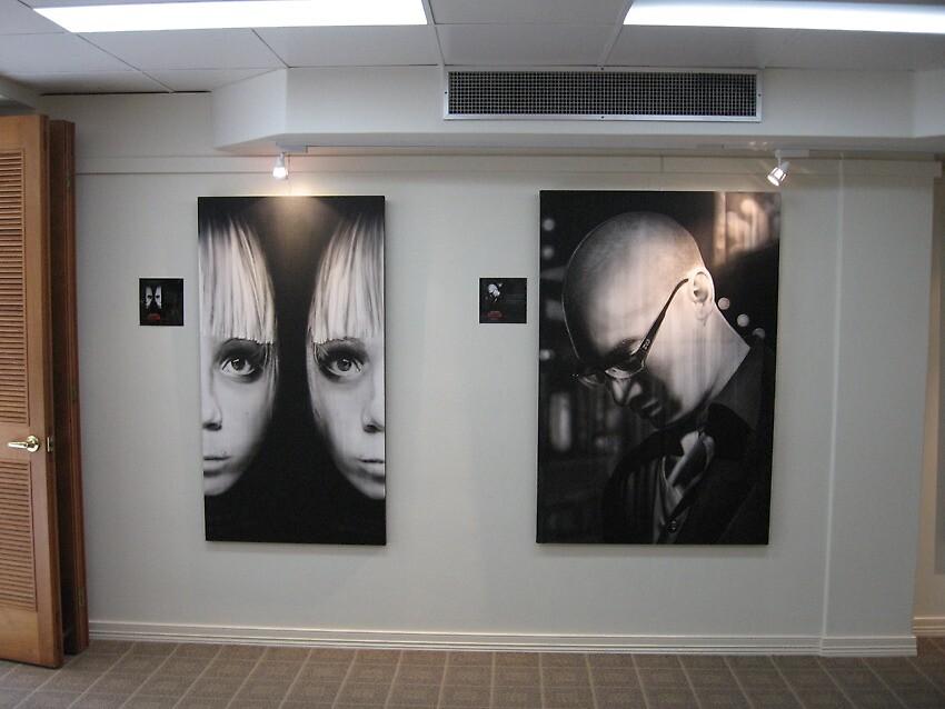 Paintings under lights !! by Warren Haney