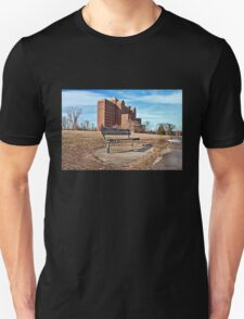 Forgotten Building and Bench T-Shirt
