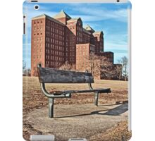 Forgotten Building and Bench iPad Case/Skin