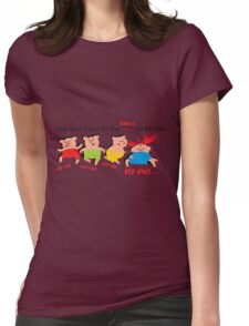 Three little pigs Womens Fitted T-Shirt