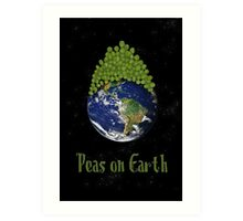 Peas on Earth ... Art Print