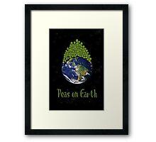 Peas on Earth ... Framed Print