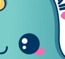 Kawaii Blue Narwhal Sticker