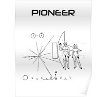 Pioneer Program - Black Ink Poster