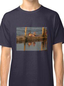 Sunset Photographer on a Pier Classic T-Shirt