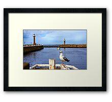Whitby Harbour Framed Print