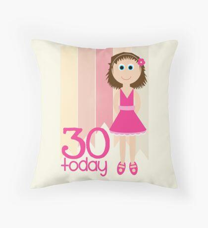 Happy Birthday - 30th Birthday, Female Throw Pillow