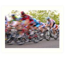 Feel the Rush as Colours Blur Art Print