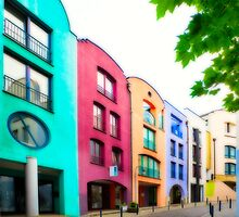 Colourful Architecture in Bremen by Manfred Belau