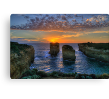 Sunset Tango - Twelve Apostles, Great Ocean Road - The HDR Experience Canvas Print