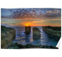 Sunset Tango - Twelve Apostles, Great Ocean Road - The HDR Experience Poster