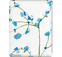Blue Cherry Blossoms Watercolor iPad Case/Skin
