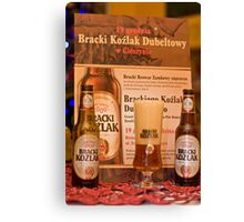 Offers good beer!!! Canvas Print