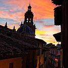 Cathedral twilight, Rubielos De Mora, Aragon, Spain by Andrew Jones