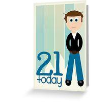 Happy Birthday - 21st Birthday, Male Greeting Card